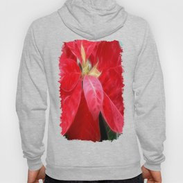 Mottled Red Poinsettia 2 Hoody