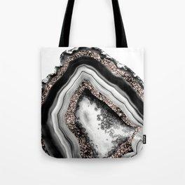Agate Rose Gold Glitter Glam #4 #gem #decor #art #society6 Tote Bag