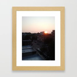 Brooklyn at 7:45pm Framed Art Print