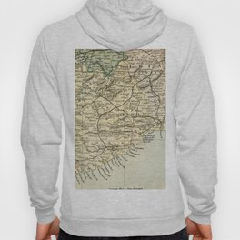 Vintage and Retro Map of Southern Ireland Hoody
