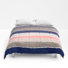 Sofie - Modern watercolor abstract painting brushstrokes feminine pop dorm college hipster art pink Comforters