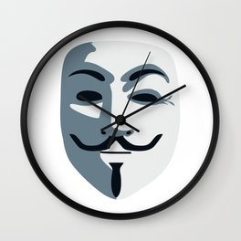 Anonymous Mask #society6 #decor #buyart #artprint Wall Clock