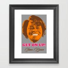 GET ON UP! James Brown sex machine t-shirt Framed Art Print