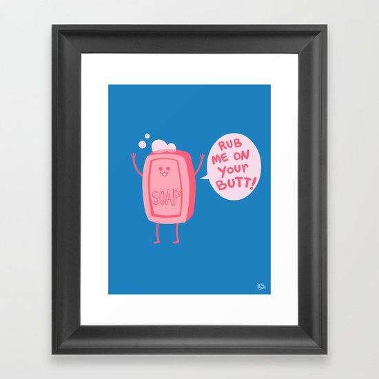 Lil' Soap Framed Art Print