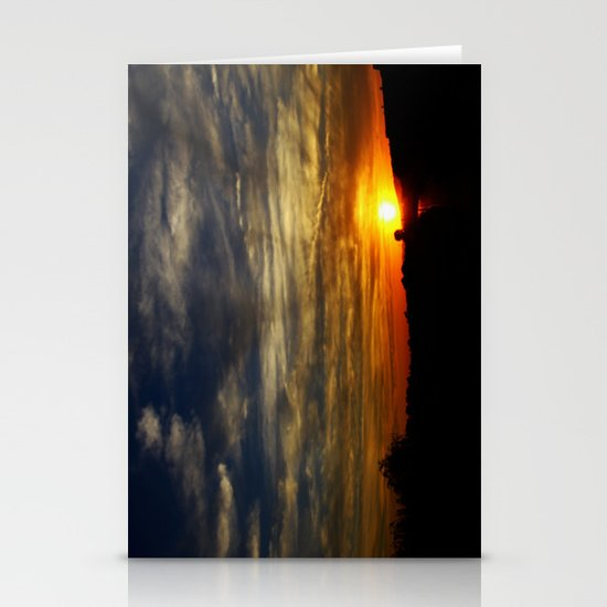Colorful sunset Stationery Cards