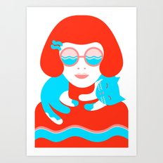 Cool for Cats Art Print