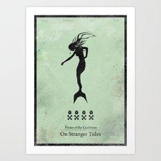 Pirates of the Caribbean 4 - On Stranger Tides - minimal poster Art Print