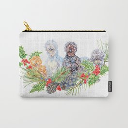 Silkie Chicken Huddle - Peck the halls!  Carry-All Pouch