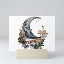 Mushroom Moon Mini Art Print