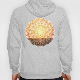 Fiery Orange Sunset Mandala Hoody