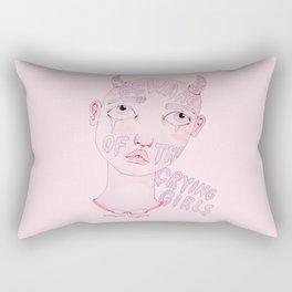 Beware of the crying girls Rectangular Pillow