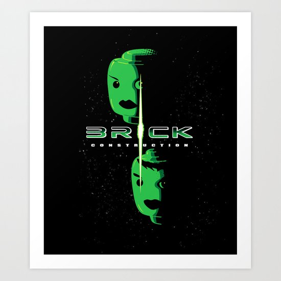 Brick Construction Art Print