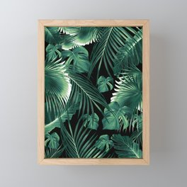 Tropical Jungle Leaves Dream #6 #tropical #decor #art #society6 Framed Mini Art Print
