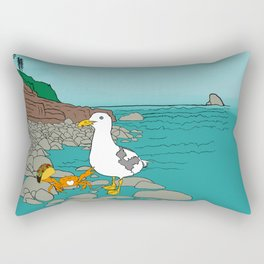 Crabarita & Gerry the Seagull from Flock of Gerrys Gerry Loves Tacos by Seasons Kaz Sparks Rectangular Pillow