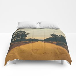 Vintage Faded Dusty Country Dirt Road Comforters