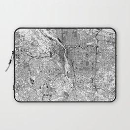 Portland White Map Laptop Sleeve
