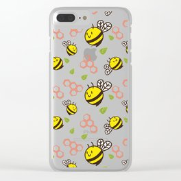 Cuddly Bees and Hives Clear iPhone Case