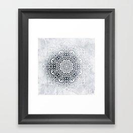WINTER VIBES MANDALA Framed Art Print