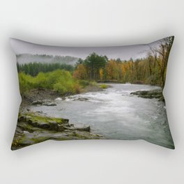 The Wilson River In The Tillamook National Forest Rectangular Pillow