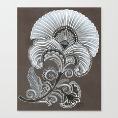 Art Deco Flower Canvas Print