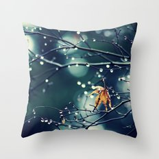 Last Leaf Photograph Throw Pillow
