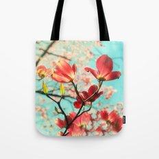 Spring dogwood blossoms Tote Bag