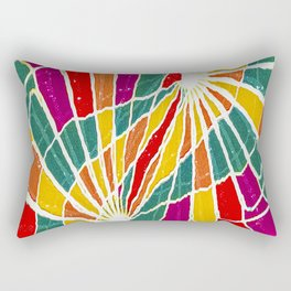 Multicolored Vibrations Abstract Art Rectangular Pillow