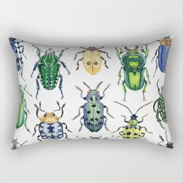 Colourful Bugs Rectangular Pillow