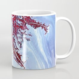 Oil from the Deepwater Horizon spill laps around the mouth of the Mississippi River Delta May 24 201 Coffee Mug