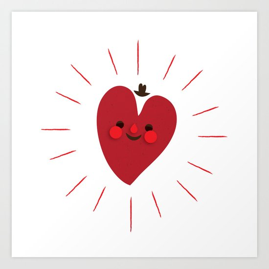 Happy Heart Art Print