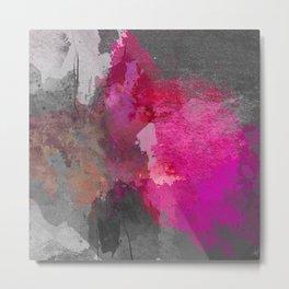 Gray pink abstract Metal Print