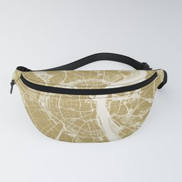 Cologne map gold Fanny Pack