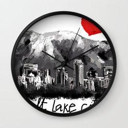 I love Salt Lake City Wall Clock