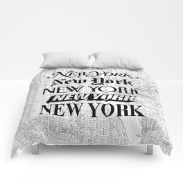 New York City black and white New York poster I love heart NYC Design black-white home wall decor Comforters
