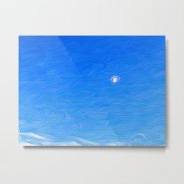 Moon Against the Morning Sky Metal Print