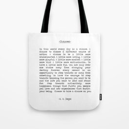Take Chances Tote Bag