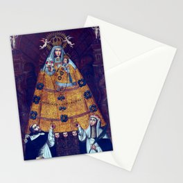 Cusco School Our Lady of the Rosary with Saint Dominic and Saint Rose Stationery Cards