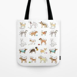 Breeds of Dog Tote Bag