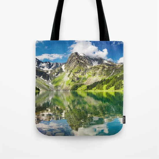 Mountain reflection #lake Tote Bag