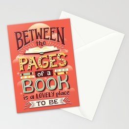 Between pages Stationery Cards