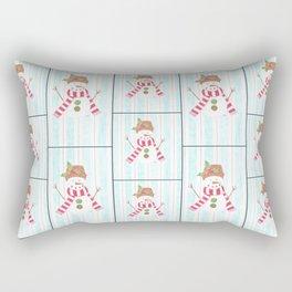 Bonhomme de neige Rectangular Pillow