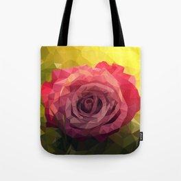 Rose Polygon Art Tote Bag
