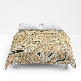 Golden Ribbons Comforters