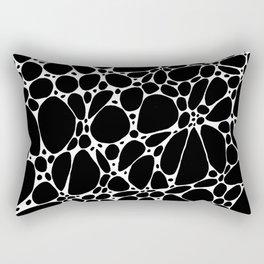 Black Floating Blobs Rectangular Pillow