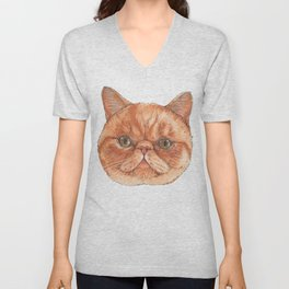 Betty aka The Snappy Cat- artist Ellie Hoult Unisex V-Neck