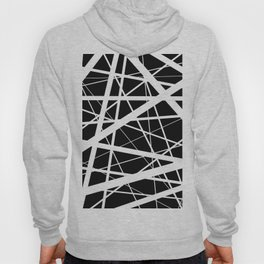 Entrapment - Black and white Abstract Hoody