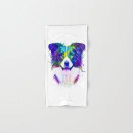 Border Collie watercolor, Watercolor Border Collie, Watercolor dog, Border Collie portrait Hand & Bath Towel