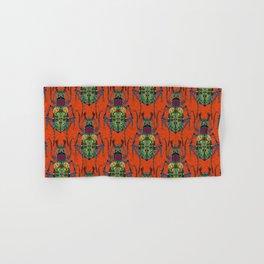 flower beetle orange Hand & Bath Towel