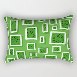 greeny square Rectangular Pillow