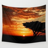 dragon Wall Tapestries featuring Firey Dragon  by Chris' Landscape Images & Designs